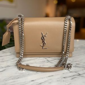 YSL Classic Shoulder bag in smooth leather